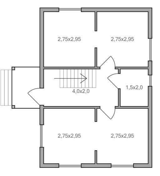 Проекты одноэтажного дома 6 на 8 (45 фото): планировка домов из пеноблоков и газобетона, с печкой и с одной спальней, с террасой и других