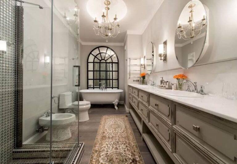 Ванная в стиле классика (99 фото): дизайн комнаты в классическом стиле, лучшие идеи оформления интерьера в особняках в стиле неоклассика