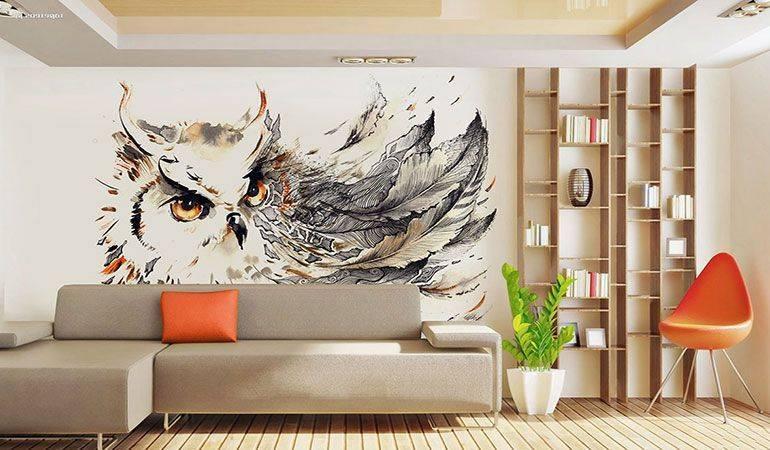 Техники росписи стен в квартире с интересными идеями: 50 фото и 3 видео