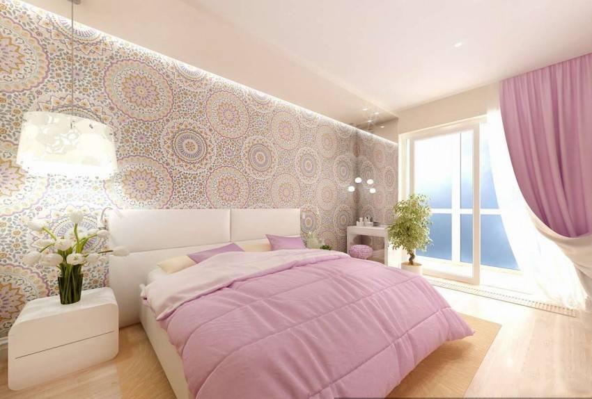 Основные правила выбора дизайна и цвета обоев в спальную комнату