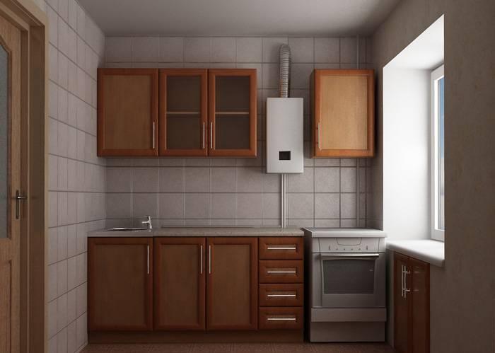 Дизайн маленькой кухни в хрущёвке с газовой колонкой и холодильником: как спрятать газовую колонку на кухне, фото » интер-ер.ру
