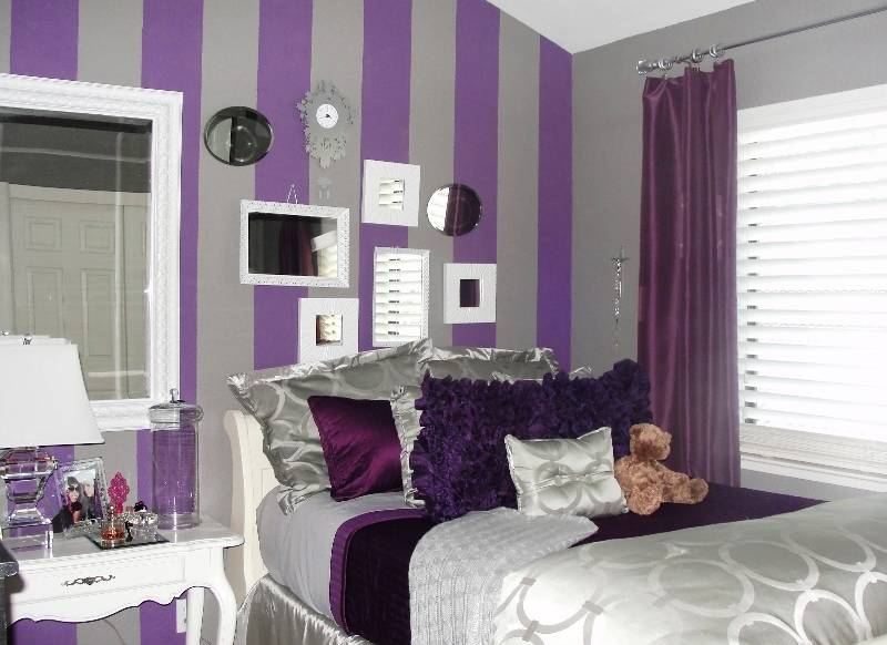 Сиреневая спальня — лучшие идеи дизайна спальни в сиреневых тонах (115 фото)