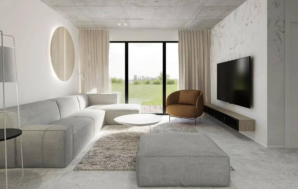 Тонкости оформления гостиной в стиле минимализм