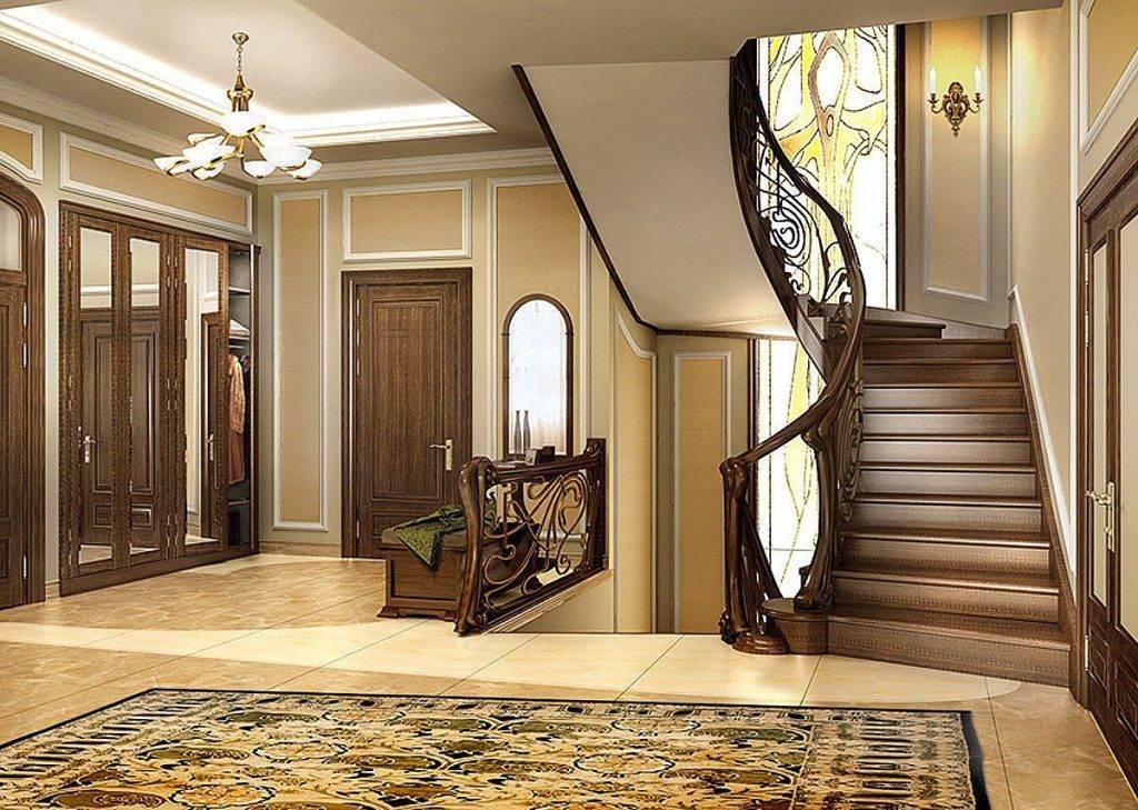 Дизайн прихожей с лестницей на второй этаж: фото и 4 основных стиля