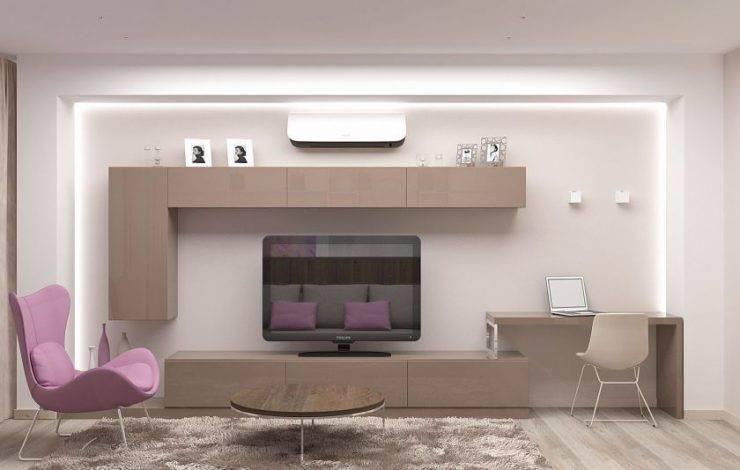 17 красивых идей дизайна стены с телевизором