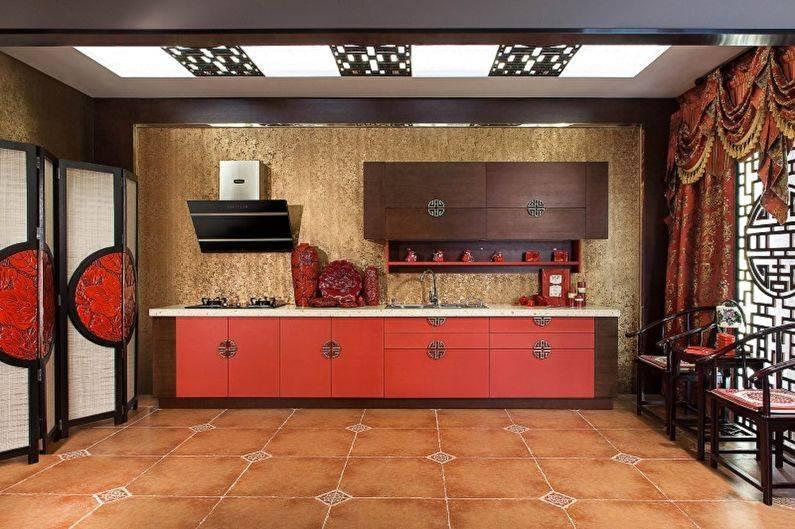 Дизайн кухни под дерево в современном стиле - 23 фото