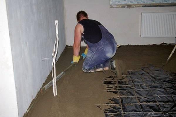 Устройство бетонных полов в частном доме