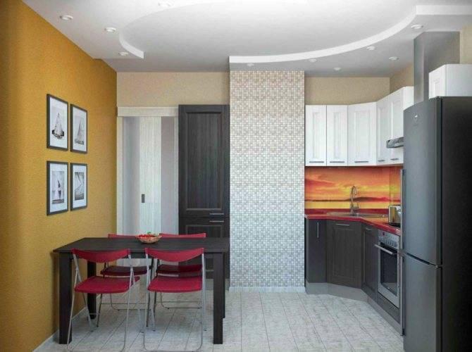 Планировка кухни с коробом в п 44: фото и идеи дизайна 8, 9, 10 кв. м