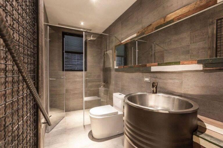 Ванная в стиле лофт: 6 атрибутов и 98 реальных фото