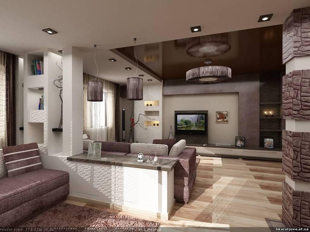 Узкая и длинная кухня-гостиная (18 фото): интерьер узкой кухни