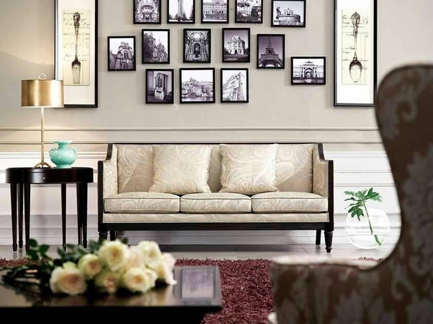 Оформление стены над диваном   домфронт