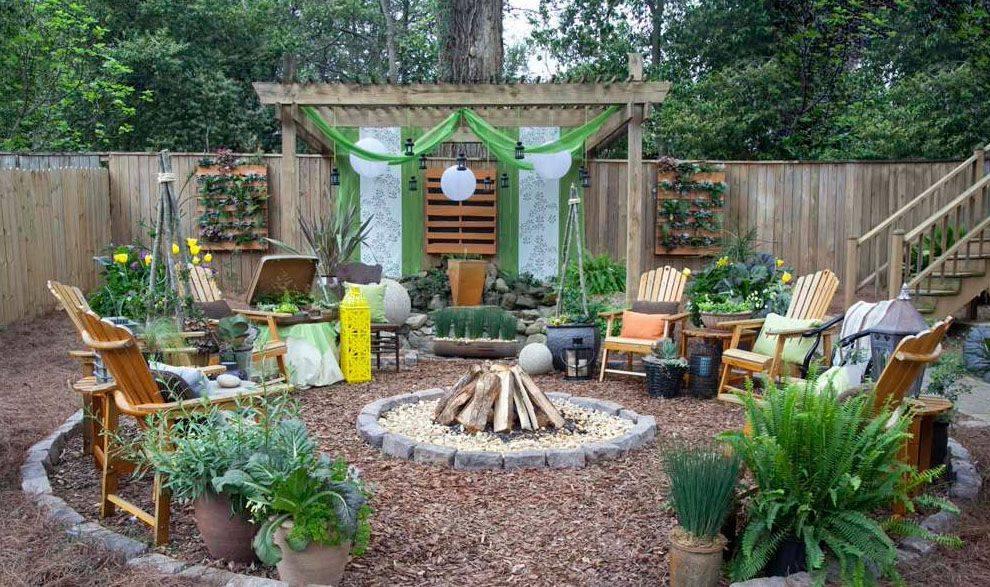 Идеи для украшения дачного двора — как сделать красивый летний дворик
