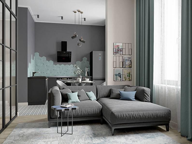 Квартира 38-39 кв. м: дизайн однокомнатной, проект, реальные фото однушки, планировка, интерьер, варианты отделки
