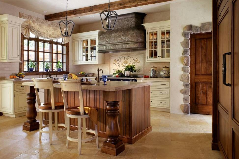 Кухня в деревенском стиле: дизайн интерьера и другие характерные особенности + фото