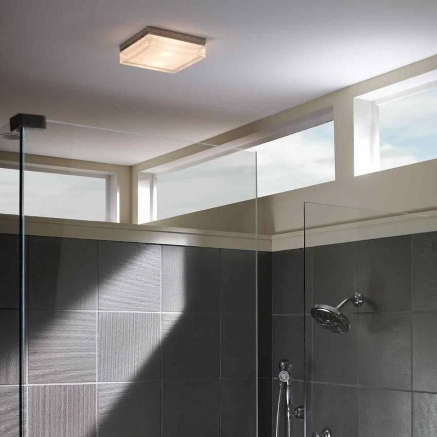 Освещение в ванной комнате с натяжным потолком