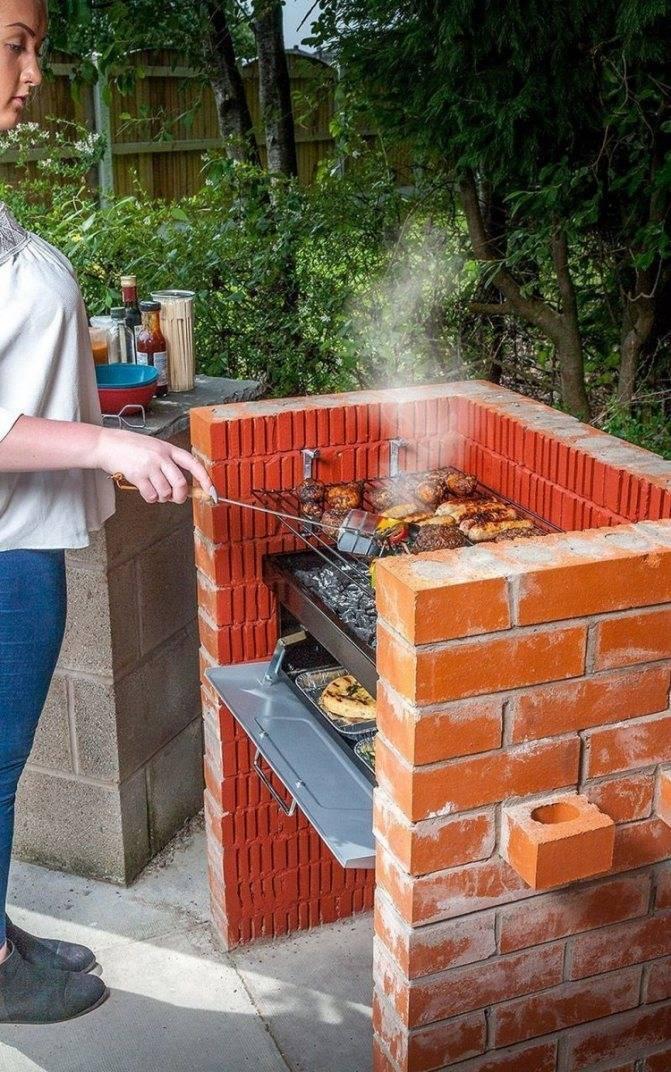 Делаем мангалы и барбекю для дачи по фото из кирпича своими руками