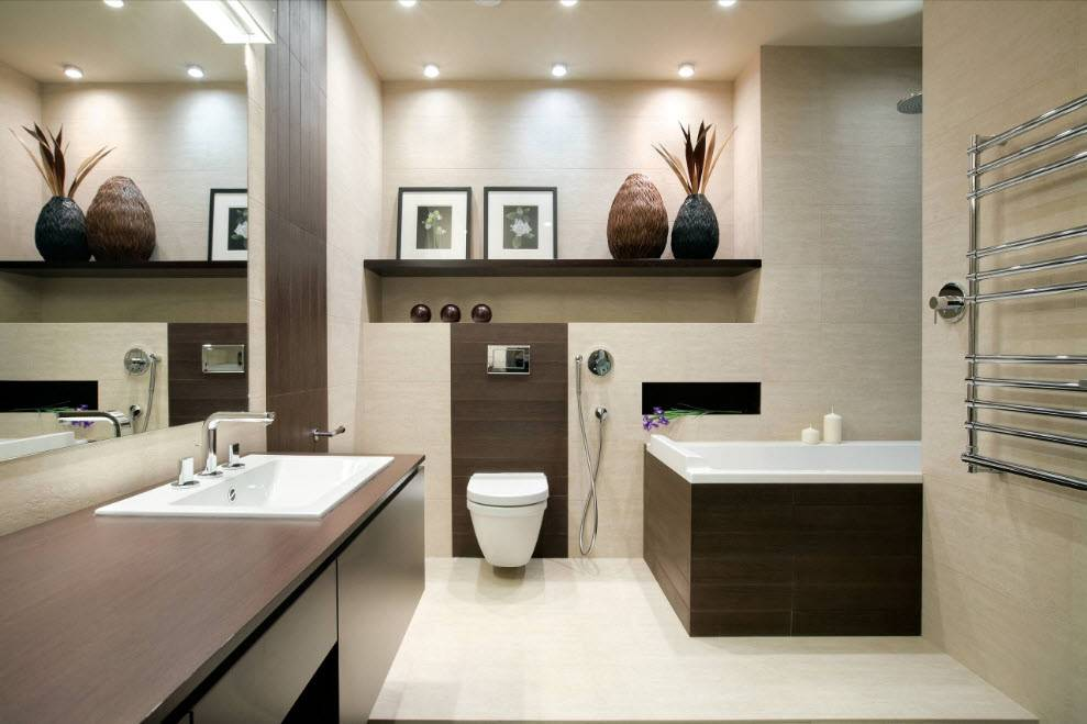 Дизайн ванной комнаты с туалетом: фото, модные тенденции, новинки