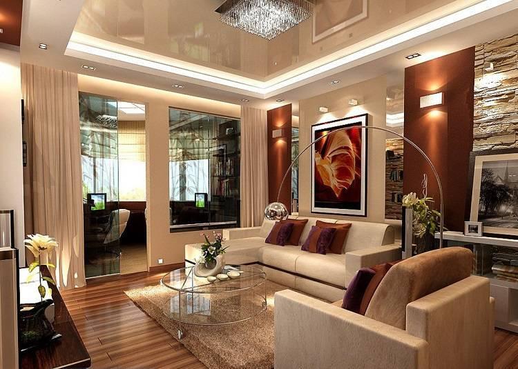 Дизайн квартиры 60м2 на 2 комнаты (90+фото+проекты)