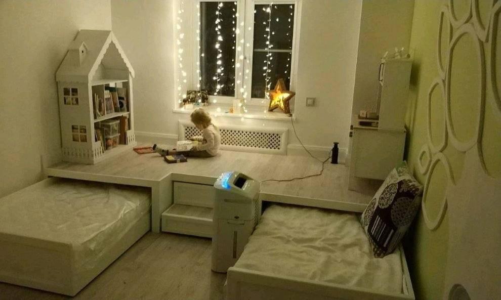 Современная кровать-подиум, топ 50 +мастер-класс
