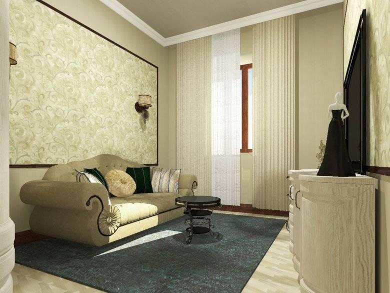 Особенности выбора дизайна обоев-компаньонов для интерьера гостиной