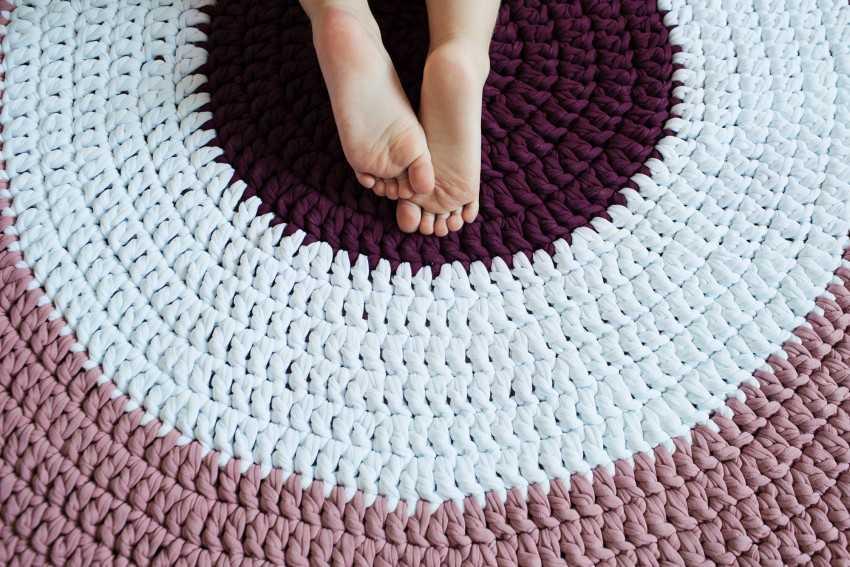 Простые коврики крючком для начинающих