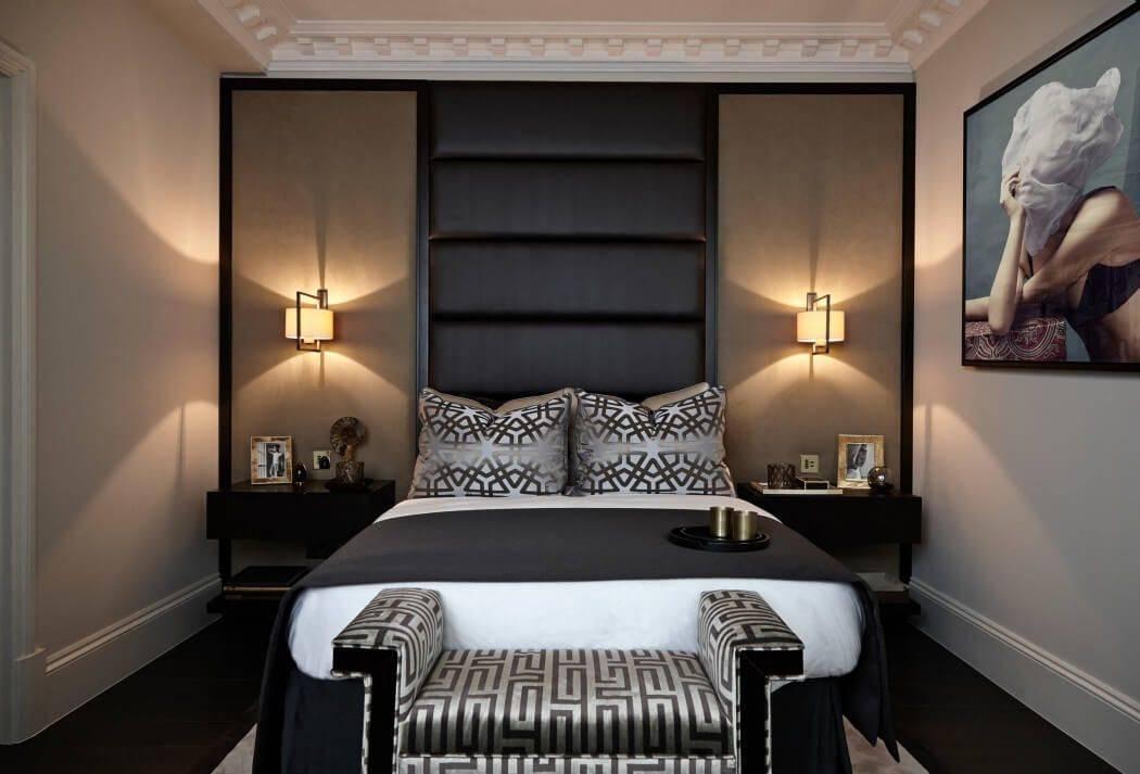 Тонкости оформления спальни в темных тонах