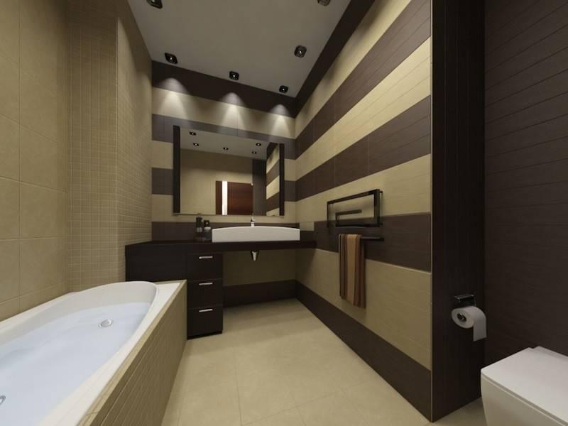 Бежевая ванная комната: фото с примерами дизайна