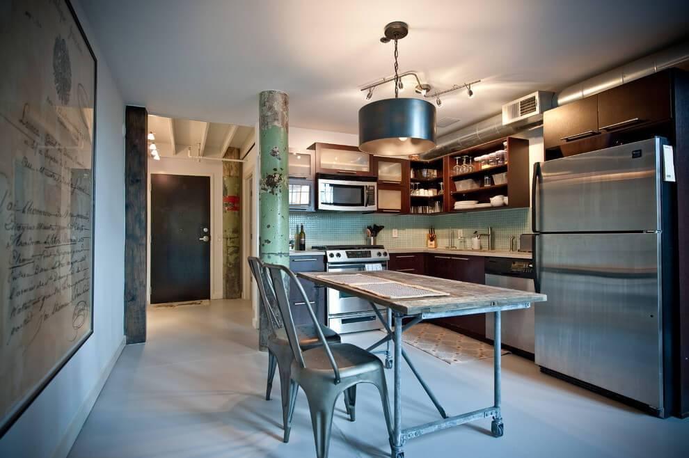 Кухня в стиле лофт: дизайн, ремонт, декор (60 фото)