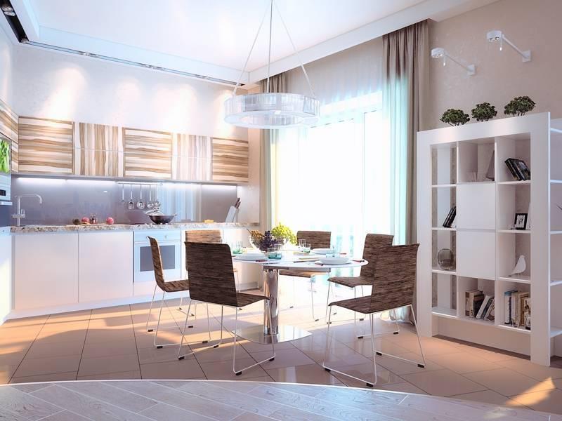 Тонкости объединения кухни с другой комнатой