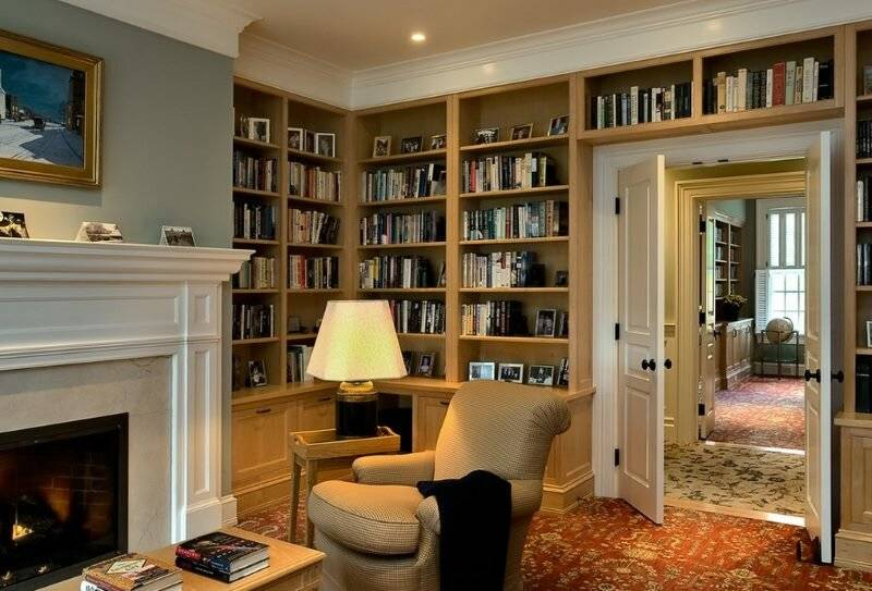 Оформление и дизайн домашней библиотеки в интерьере