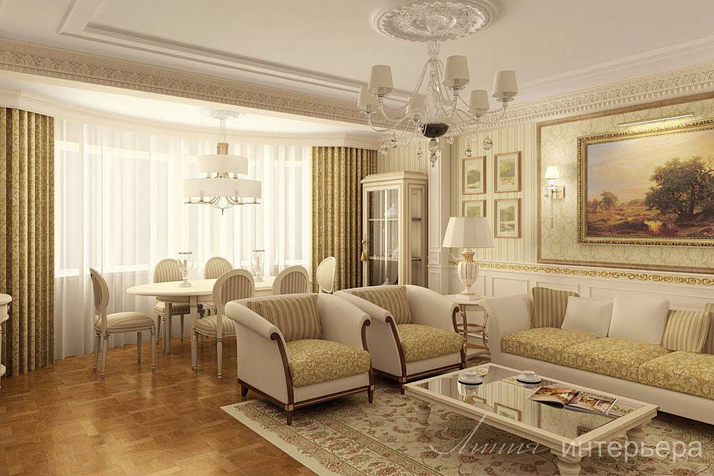 Интерьер квартиры в классическом стиле — 25 фото - «стили»