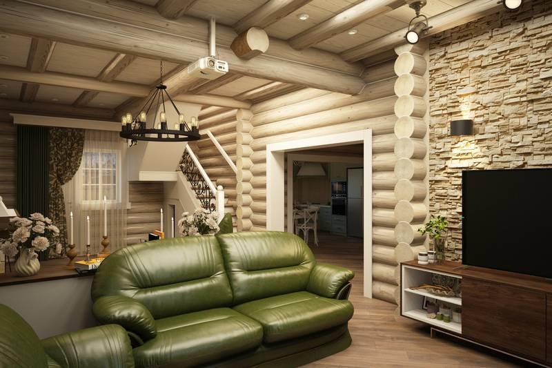 Дизайн дома (117 фото): оформление интерьера всех комнат внутри загородного коттеджа, декор лестницы на второй этаж в частном доме