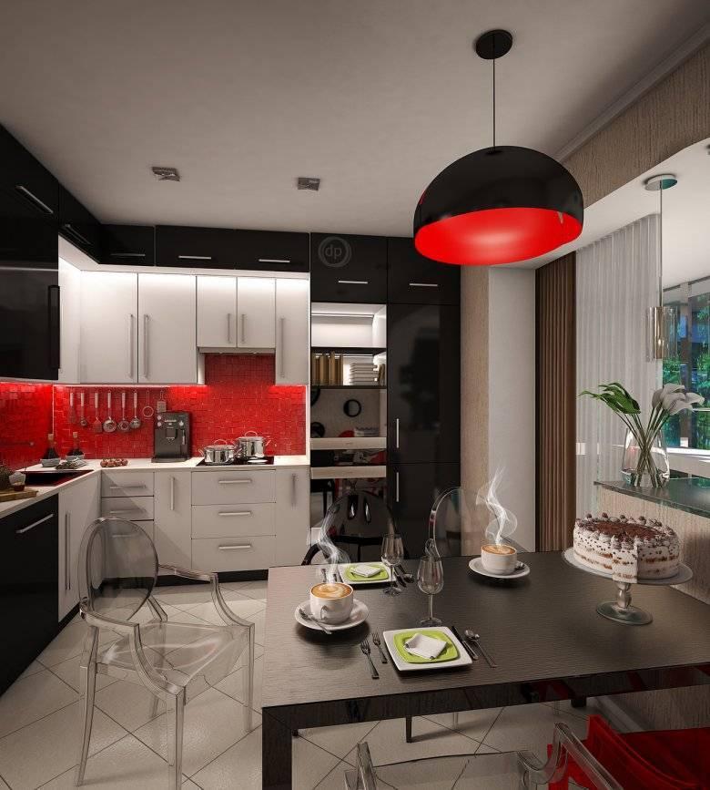 Варианты дизайна кухни с черной столешницей