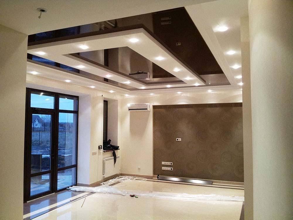 Парящий потолок из гипсокартона с подсветкой: варианты дизайна (9 фото)