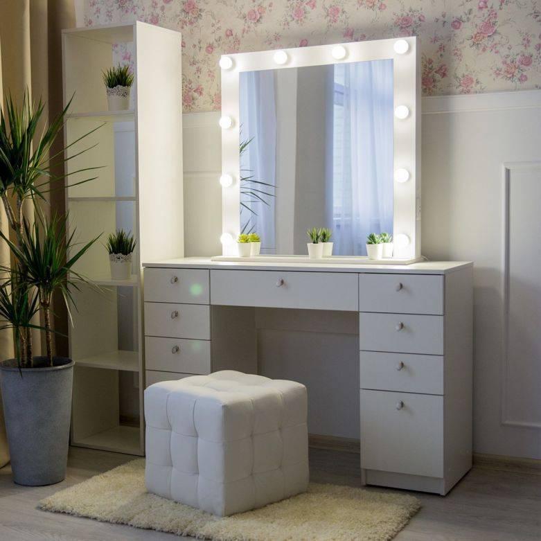 Особенности выбора трюмо и трельяжа с зеркалом для спальных комнат