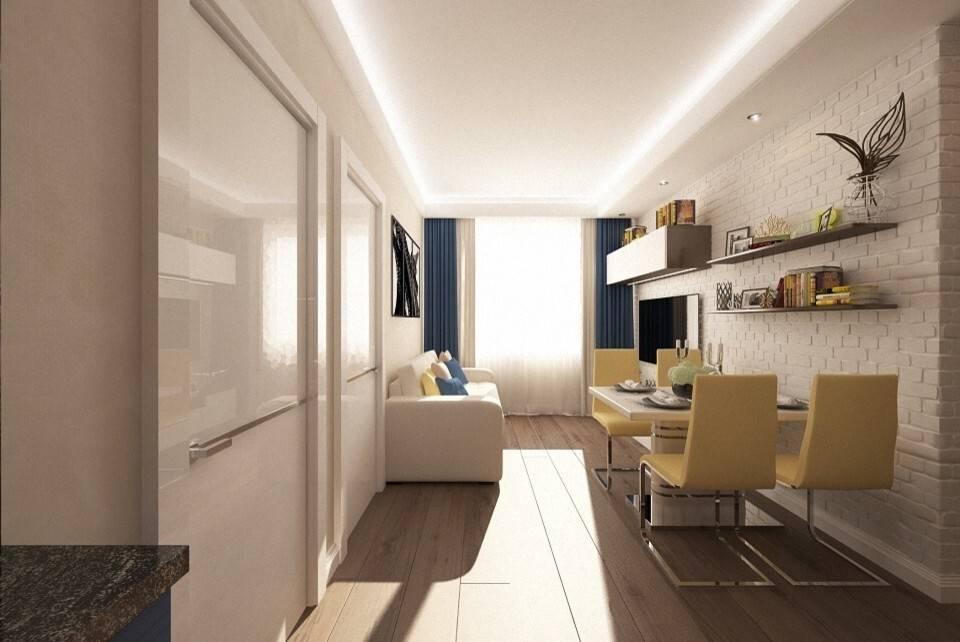 Дизайн квартиры 60 кв м - выбор цвета и стиля, 10 фото + видео