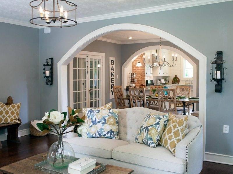 Разделение кухни и гостиной (37 фото): как красиво отделить две зоны в комнате аркой?