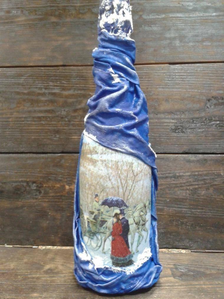 Декор бутылок, популярные варианты оформления своими руками