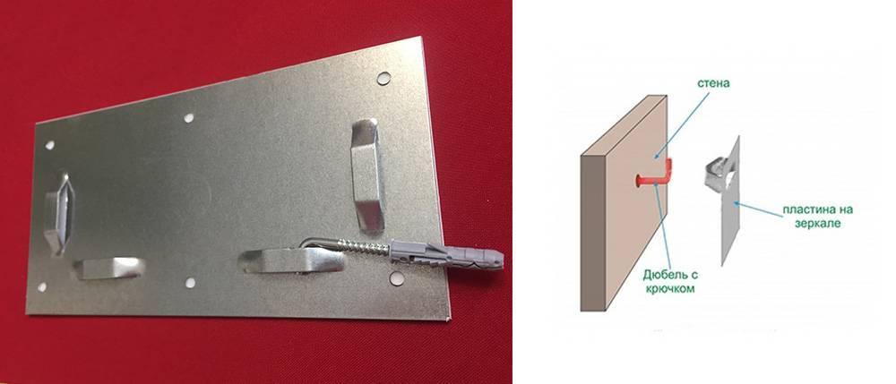 Крепление для зеркала на стену: без рамки, без сверления зеркала, способы крепежа, фурнитура, профиль