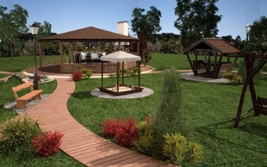 Ландшафтный дизайн участка 15 соток: идеи и решения для сада и огорода (130 фото)