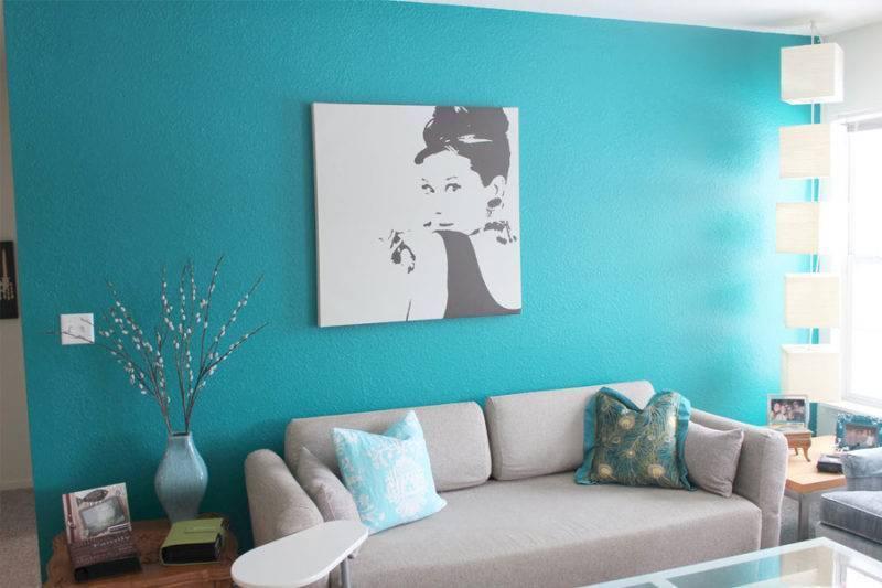 Цвет стен в гостиной: удачные варианты для дома и квартиры (51 фото): как выбрать белую или бирюзовую краску и покрасить стены в зале, как подобрать колер