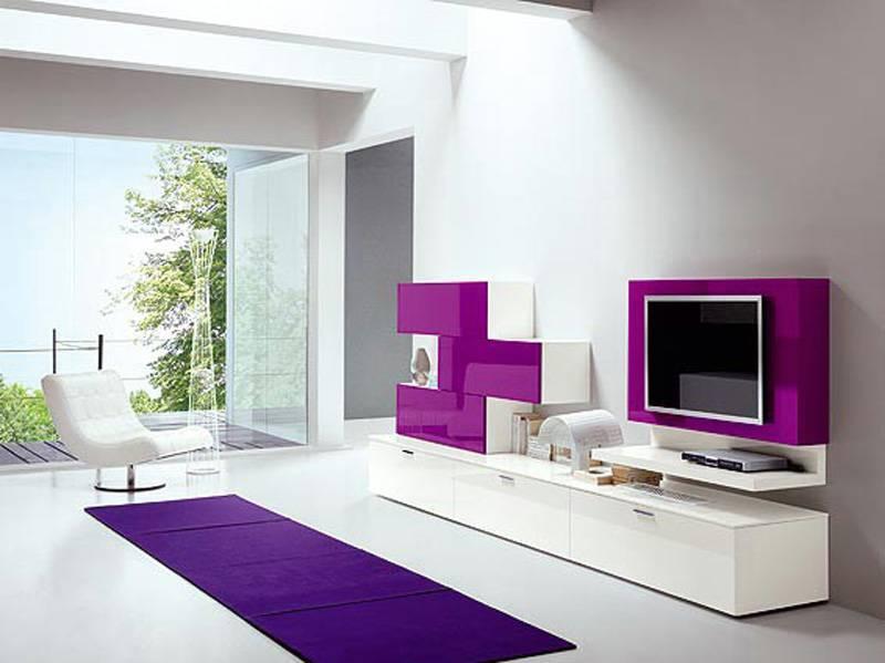 Выбор глянцевой мебели в гостиную, преимущества таких конструкций