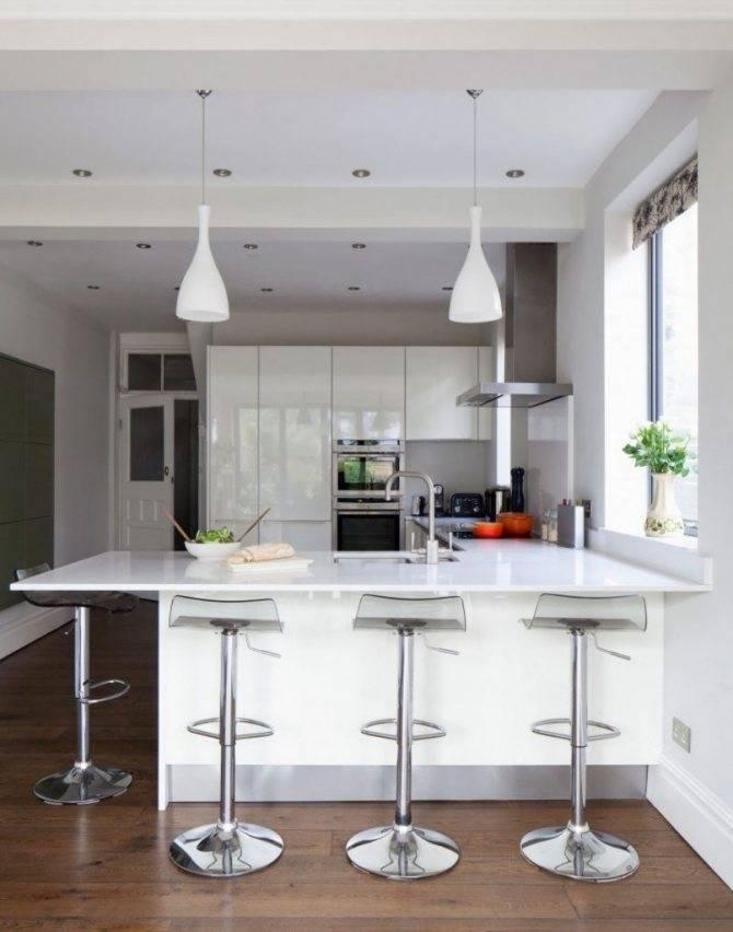 Маленькая кухня с барной стойкой: как сделать кухню еще удобнее ( реальные фото)