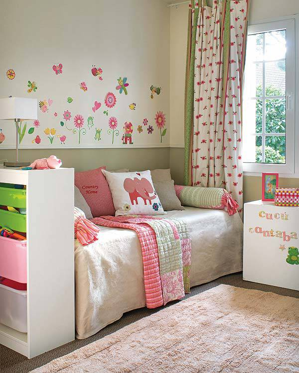 Как создать привлекательный, практичный дизайн детской спальни своими руками?