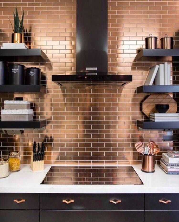 Плитка для кухни: 75 фото идей плитки для пола и фартука
