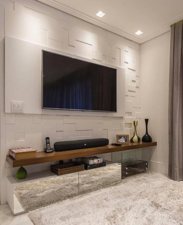 Дизайн стены с телевизором в гостиной (66 фото): варианты оформления акцентной стены с телевизором в интерьере гостиной. как оформить нишу под телевизор из гипсокартона?