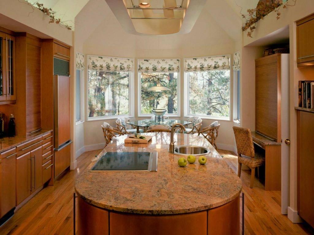Дизайн кухни с эркером: 115+ (фото) интерьеров в частном доме