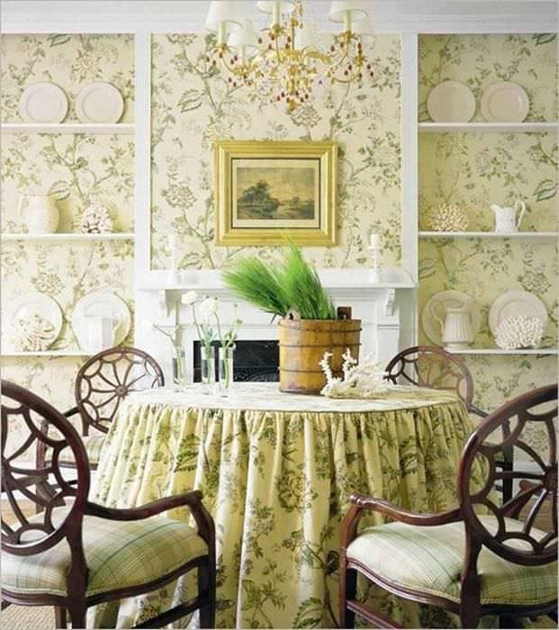 Выбор обоев в стиле прованс для кухонного помещения