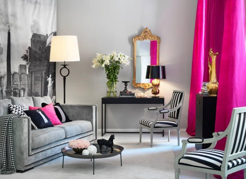 Серый цвет в интерьере и его сочетание с другими цветами, примеры фото