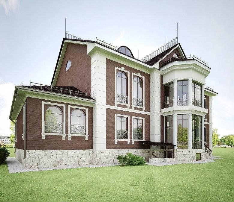 Современная отделка фасада частного дома: варианты сфото